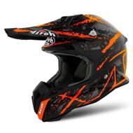 Кроссовый шлем Airoh Terminator Carnage Orange Black