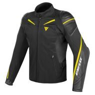 Мотокуртка Dainese Street Master Black Yellow гибридная кожа-текстиль