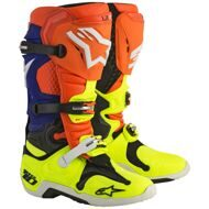 Кроссовые мотоботы Alpinestars Tech 10 Orange Blue Yellow White