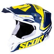Кроссовый шлем Scorpion VX-16 Air Ernee Blue Yellow White