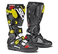Кроссовые мотоботы Sidi Crossfire 3 SRS White Black Yellow Fluo