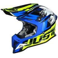 Кроссовый шлем Just1 J12 Dominator Neon Yellow Blue