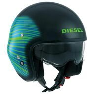Открытый шлем Diesel Hi-Jack HJ1 Black Blue Green
