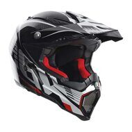 Кроссовый шлем AGV AX-8 Carbon Carbotech White Red