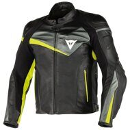 Кожаная куртка Dainese Veloster Black Anthracite Yellow