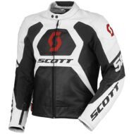 Кожаная мотокуртка Scott Blouson Track Leather White Red