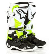 Кроссовые мотоботы Alpinestars Tech 10 Black White Yellow LE Daytona