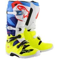 Кроссовые мотоботы Alpinestars Tech 7 Yellow White Blue Cyan