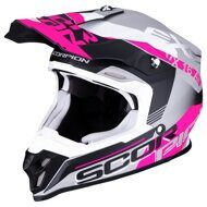 Кроссовый шлем Scorpion VX-16 Air Arhus Matt White Pink