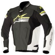 Кожаная куртка Alpinestars Fuji Black White Yellow Fluo