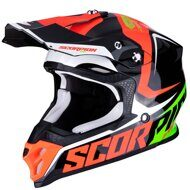 Кроссовый шлем Scorpion VX-16 Air Ernee Black Red Green
