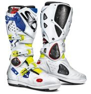 Кроссовые мотоботы Sidi Crossfire 2 SRS Yellow Fluo White Blue