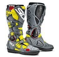 Кроссовые мотоботы Sidi Crossfire 2 SRS Yellow Fluo Grey