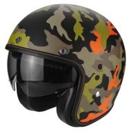 Открытый шлем Scorpion Belfast Mission Matt Black Orange Camo