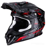 Кроссовый шлем Scorpion VX-16 Air Punch Black Red Grey