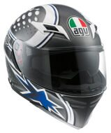 Шлем AGV Skyline Psyco White / Gunmetal / Blue