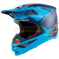 Кроссовый шлем Alpinestars Supertech S-M10 Meta Blue Orange
