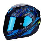 Шлем Scorpion Exo-1200 Air Solis Matt Black Blue