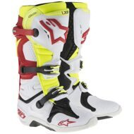 Кроссовые мотоботы Alpinestars Tech 10 White Red Yellow Vented