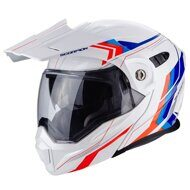 Шлем Scorpion ADX-1 Anima White Red Blue