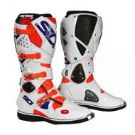 Кроссовые мотоботы Sidi Crossfire 2 Orange Fluo White Blue
