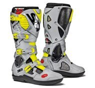 Кроссовые мотоботы Sidi Crossfire 3 SRS Black Grey Yellow Fluo