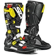 Кроссовые мотоботы Sidi Crossfire 3 White Black Yellow Fluo