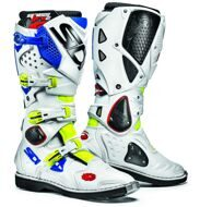 Кроссовые мотоботы Sidi Crossfire 2 Yellow Fluo White Blue