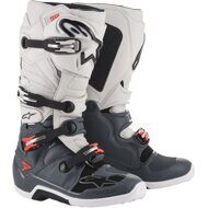 Кроссовые мотоботы Alpinestars Tech 7 Dark Grey Light Grey Red