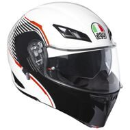 Шлем-модуляр AGV Compact ST Vermont White Black Red
