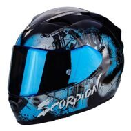Шлем Scorpion Exo-1200 Air Tenebris Black Light Blue