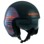 Открытый шлем Diesel Hi-Jack HJ1 Black Blue Red