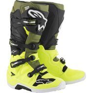 Кроссовые мотоботы Alpinestars Tech 7 Yellow Green Black