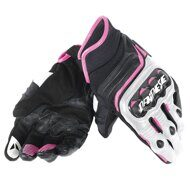 Женские перчатки Dainese Carbon D1 Short Lady Black White Fuchsia