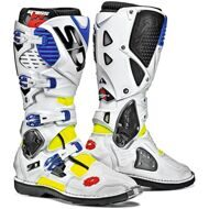 Кроссовые мотоботы Sidi Crossfire 3 White Blue Yellow Fluo