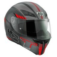 Шлем-модуляр AGV Compact ST Seattle Matt Black Grey Red