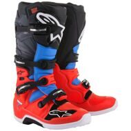 Кроссовые мотоботы Alpinestars Tech 7 Red Cyan Grey Black