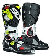 Кроссовые мотоботы Sidi Crossfire 2 2016 White Black Yellow Fluo