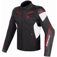 Мотокуртка Dainese Street Master Black White Red гибридная кожа-текстиль