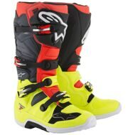 Кроссовые мотоботы Alpinestars Tech 7 Yellow Red Grey Black