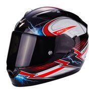 Шлем Scorpion Exo-1200 Air Fulgur Black White Red