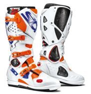Кроссовые мотоботы Sidi Crossfire 2 SRS Orange Fluo White Blue