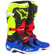 Кроссовые мотоботы Alpinestars Tech 10 SE Anaheim Black Yellow Blue Red