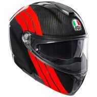 Шлем-модуляр AGV Sportmodular Stripes Carbon Red