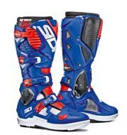 Кроссовые мотоботы Sidi Crossfire 3 SRS White Blue Red Fluo