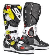 Кроссовые мотоботы Sidi Crossfire 2 SRS White Black Yellow Fluo