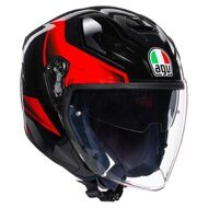 Открытый шлем AGV K-5 Jet Rocket Black Grey Red