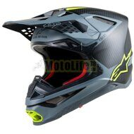 Кроссовый шлем Alpinestars Supertech S-M10 Meta Carbon Gray Yellow