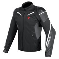 Мотокуртка Dainese Street Master Black Anthtracite White гибридная кожа-текстиль