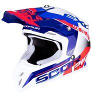 Кроссовый шлем Scorpion VX-16 Air Arhus White Blue Neon Red